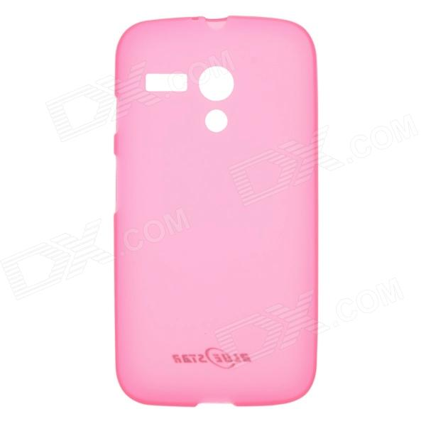 Protective TPU + PVC Back Case for MOTO G / DVX / XT1031 / XT1032 - Deep Pink nillkin star series protective case for moto g2 pink