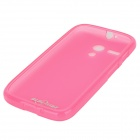 Protective TPU + PVC Back Case for MOTO G / DVX / XT1031 / XT1032 - Deep Pink