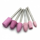 12-in-1 High Speed Steel Grinding / Milling / Finishing Shank + Brush Set - Silver + Pink