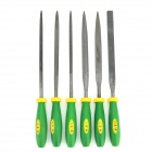 Harkcaput YT-804160 Alloy Steel File Set - Green + Black + Yellow (6 PCS)
