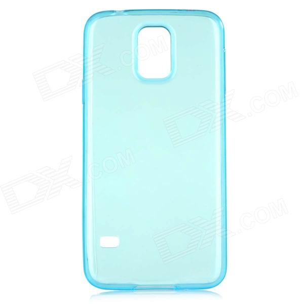 все цены на  HOCO HS-T003 Protective 0.5mm TPU Back Case Cover for Samsung Galaxy S5 - Translucent Blue  онлайн