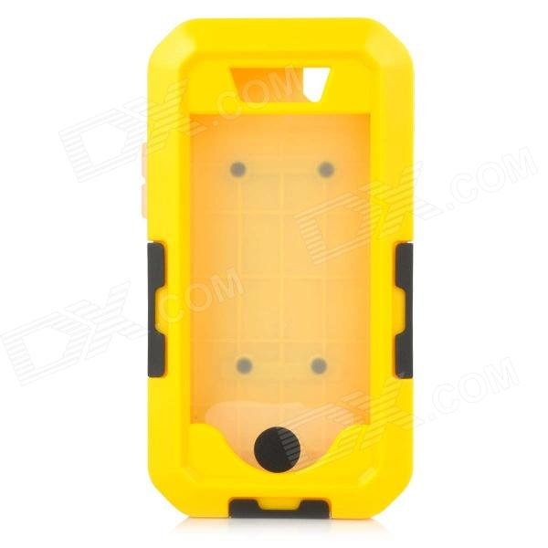 Protective Sports Waterproof IPX8 Case w/ Arm Band + Strap for IPHONE 5 / 5S - Yellow + Black usams fluorescent ipx8 waterproof bag case for iphone 6s 6 4 7 with strap black