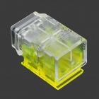 1-to-1 Free Peeling Wire Connector / Wire Cable Quick Joint - Yellow + Transparent