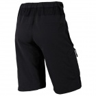 NUCKILY NS357 Men's Quick-Dry outdoor ciclismo calças curtas - preto (M)