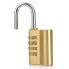 Copper + Iron Safety Combination Code Lock for Luggage - Yellow + Silver