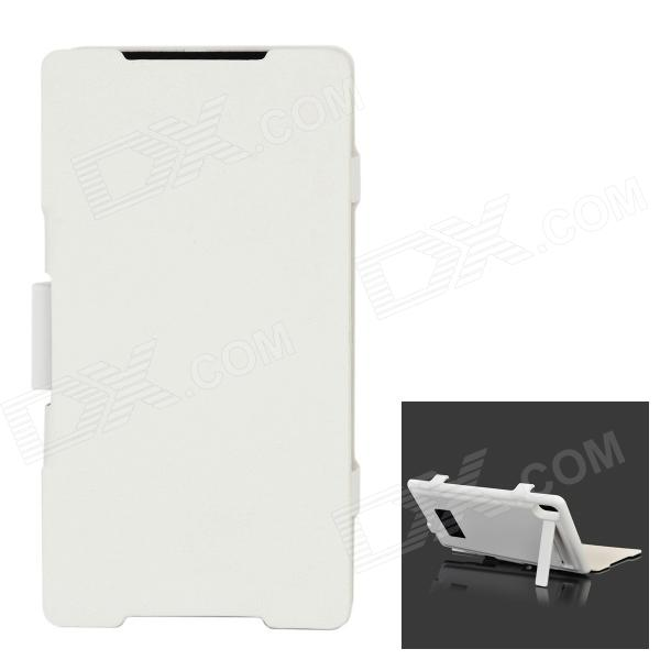 External 4500mAh Power Battery w/ Stand / Flip-Open Case + Charging Cable for Sony Xperia Z2/D6503