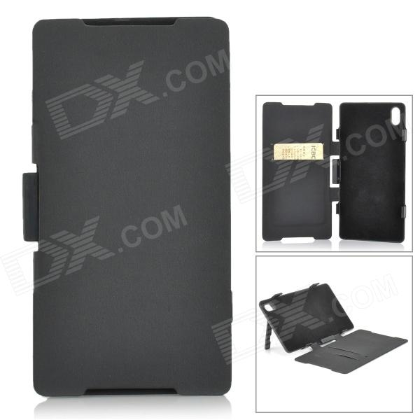 5V 5500mAh Li-ion Battery Power Bank Case w/ Stand for Sony Xperia Z2 / D6503 - Black