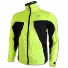 NUCKILY NY0921 Outdoor Cycling Long-sleeved Dacron Jersey - Fluorescent Green + Black (M)