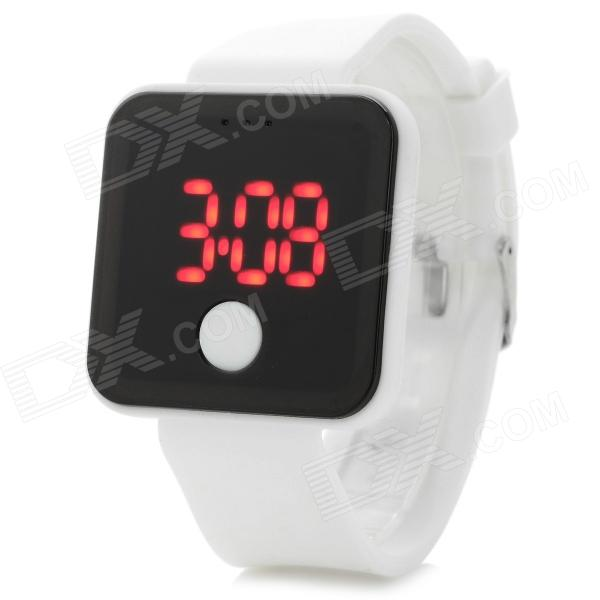Shifenmei SF-0001 Stylish Silicone Band Digital LED Sports Wristwatch - White (1 x 2016) win max wmb07200 stylish silicone swimming cap white