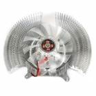 Aluminum Alloy Cooling Fan Heatsink for Graphic Card - Silver + Translucent