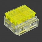 1-to-3 Free Peeling Wire Connector / Wire Cable Quick Joint - Yellow + Transparent