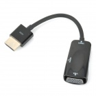HDMI to VGA Adapter Cable + 3.5mm Male to 3.5mm Male Cable - Black (11cm / 98cm)