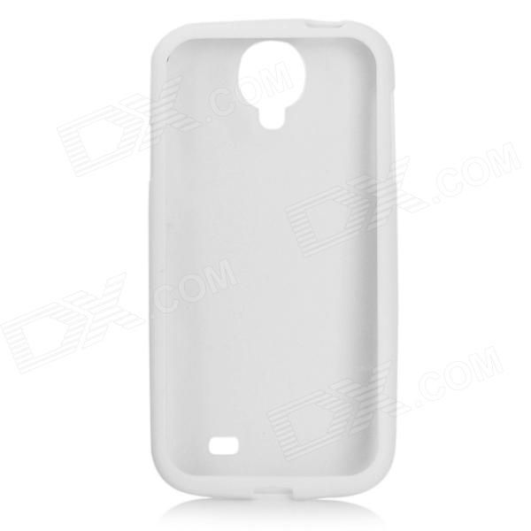Protective Plastic Back Case for Samsung Galaxy S4 i9500 - White + Transparent protective plastic case for samsung galaxy s4 i9500 white