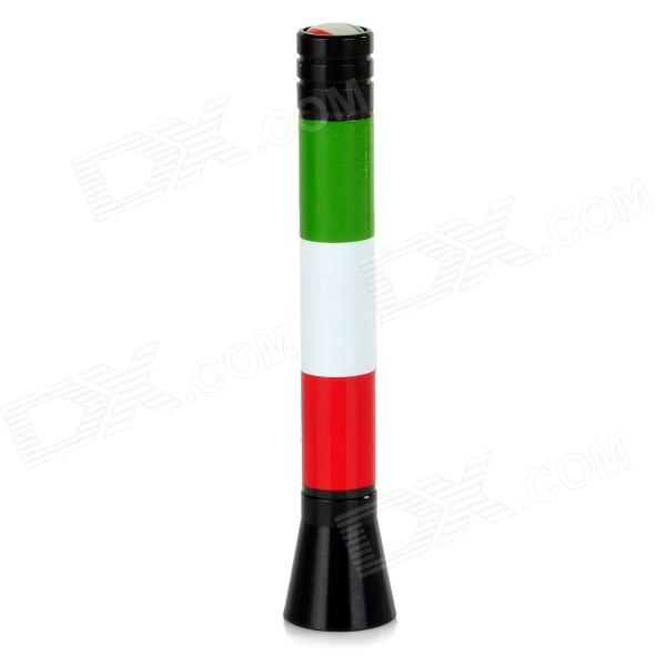 Universal Italy Flag Pattern Car DIY Radio Antenna - Green + White + Red + Black недорого