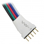ABS + Copper 5pin LED RGB luz Cables de conexión - Blanco + multicolores (10 PCS / 13cm)