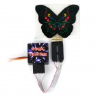 Butterfly Shaped Tail Window Sticker Strobe Light for 1/10 R/C Model Car (3.7V)