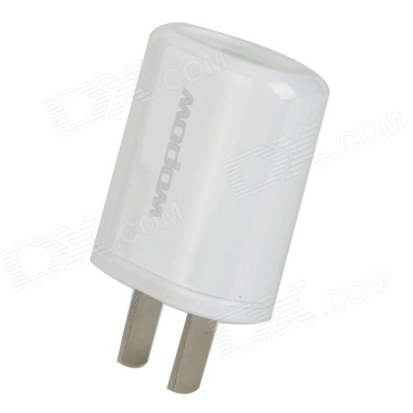 Wopow A8 Universal USB 5V 1A Power Adapter - White (US Plugs / 100~240V)