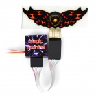 Wing Shaped Tail Window Sticker Strobe Light for 1/10 R/C Model Car (3.7V)