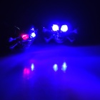DIY Skull Style 2-LED Screwed License Plate / Decoration Strobe Light (2 Sets)