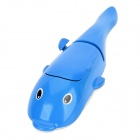 Cute Whale Shaped Fluff  Dust Remover Brush - White + Black + Blue