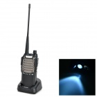 Baofeng UV-8d 128-CH 400~480MHz Walkie Talkies w/ FM / Flashlight - Black + Silvery White