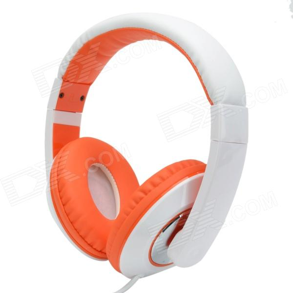Sound Intone HD-680 Extra Bass Wired Headphone w/ Microphone for IPHONE - White +Orange (3.5mm Plug) superlux hd669 professional studio standard monitoring headphones auriculares noise isolating game headphone sports earphones