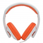 sonner entonner HD-680 Extra Bass Wired Headphone avec microphone pour IPHONE-Blanc + Orange (fiche 3.5mm)