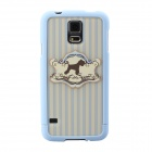 Cute Cartoon Dog Protective TPU Back Case for Samsung Galaxy S5 - Blue