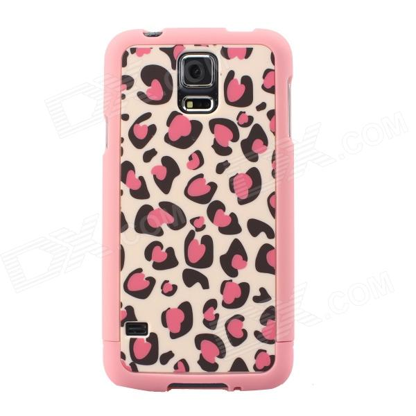 все цены на Leopard Pattern Protective TPU Back Case for Samsung Galaxy S5 - Pink онлайн