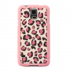 Leopard Pattern Protective TPU Back Case for Samsung Galaxy S5 - Pink