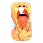 Hot Sexy Lips Girl Pattern Protective TPU Back Case for Samsung Galaxy SIII mini i8190 - Red +Yellow