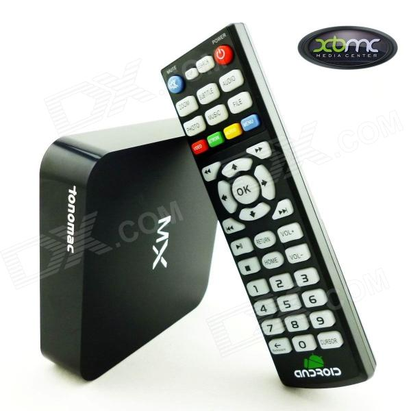 Tonomac G18ref Dual Core Android 4.2.2 Media Player TV Box w / 1Go de RAM, 8 Go de ROM, Wi-Fi, SD-noir