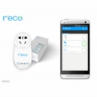 Reco RP200 10A 2200W Wi-Fi Smart 3-Flat-Pin Plug Socket / IR Remote Control Timer Switch - White