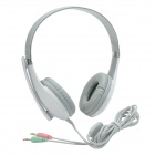 Kanen KM-1080 Fashionable 40mm Driver Stereo Headphones w/ Rotary Microphone - White (3.5mm Plug)