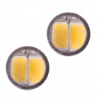 MZ T10 5W 350lm 10 SMD 5630 LED livre de erros Canbus Warm White Car Light Clearance lâmpada (DC12V / 2 PCS)