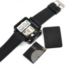 "K2 GSM Watch Phone m / 1,8 ""resistiv skjerm, Bluetooth V2.0, GPRS Positioning, Quad-band - Svart"
