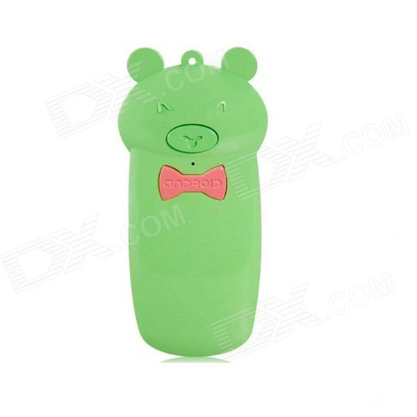 Creative Lovely Pig Shape Wireless Bluetooth Shutter Controller for IPHONE 5 + More - Green