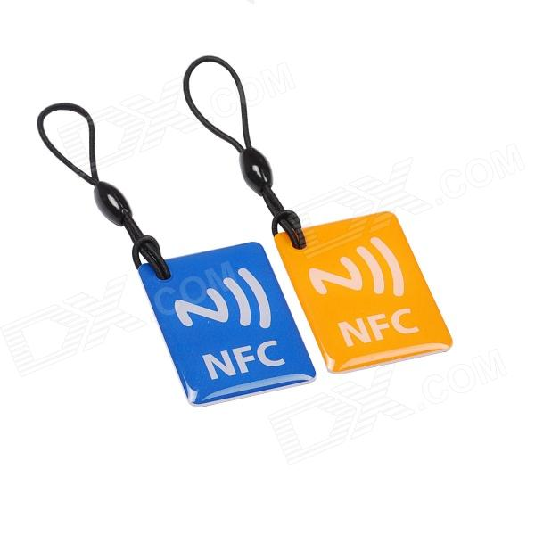 NXP Ntag 203 144 Bytes 13.56MHz Smart NFC Tags for Cellphones - Blue + Orange (2 PCS) шагомер omron hj 203 ed orange
