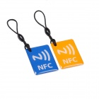 NXP Ntag 203 144 Bytes 13.56MHz Smart NFC Tags for Cellphones - Blue + Orange (2 PCS)