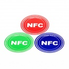 NXP Ntag203 144 Bytes 13.56MHz Smart NFC Tags Stickers Set - Red + Green + Blue (3 PCS)