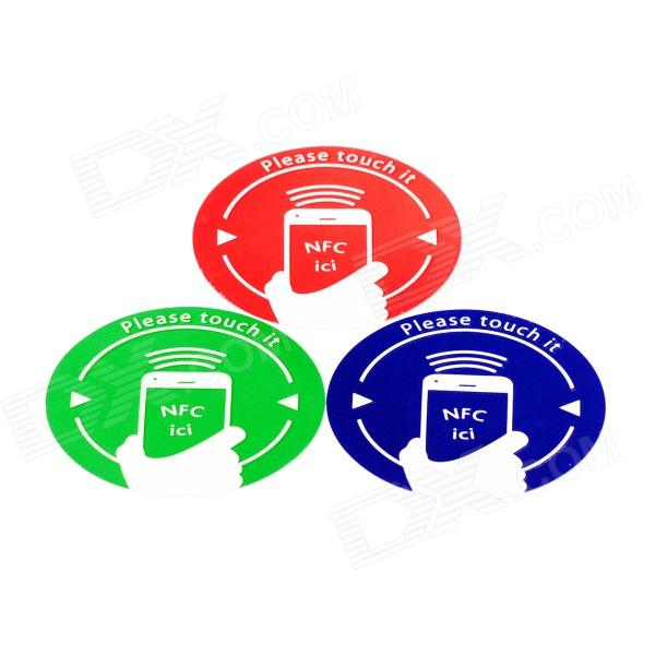 NXP Ntag203 Cellphone Pattern Stickers 144 Bytes NFC Tags - Red + Green + Blue (3 PCS) smartrac nfc ntag 203 circus 23mm stickers set windows android htc samsung nokia