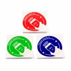 NXP Ntag203 Cellphone Pattern Stickers 144 Bytes NFC Tags - Red + Green + Blue (3 PCS)