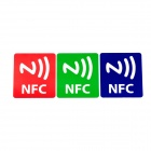NXP Ntag203 144 Bytes Cellphone Pattern Stickers NFC Tags - Red + Green + Blue (3 PCS)
