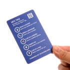 NXP MIFARE DESFire EV1 8000 Bytes Smart NFC Business Card Tags - Blue