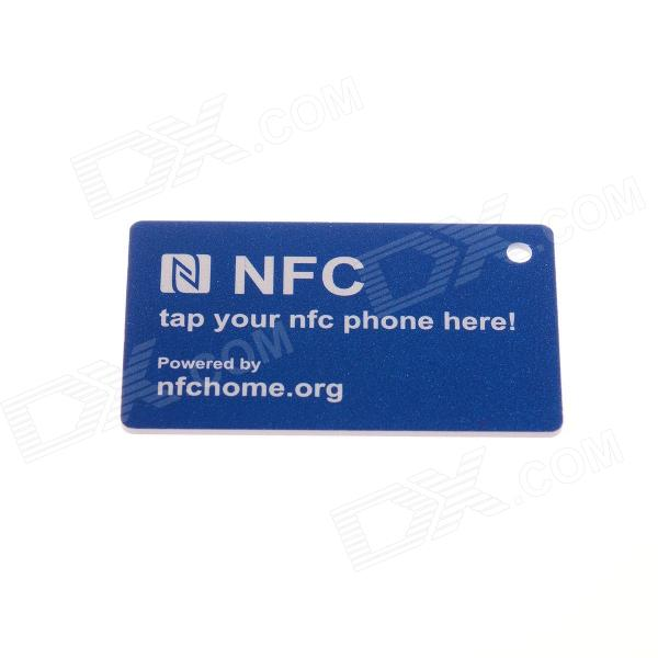 NXP 888 Bytes / Fully Compatible / Ntag216 Erasable NFC Smart TAG for Cell Phone - Blue