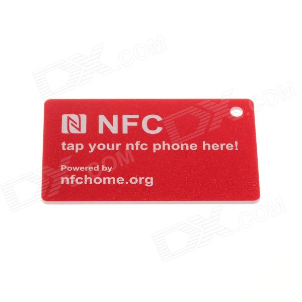 NXP 888 Bytes / Fully Compatible / Ntag216 Erasable NFC Smart TAG for Cell Phone - Red