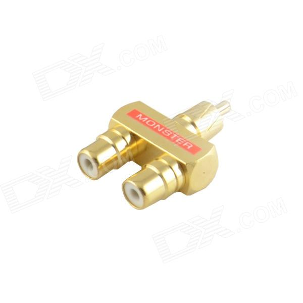 JT-1702 Gold-plated RCA Male to RCA Female - Yellow + White