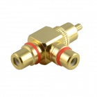JT-1699 vergoldete RCA-Stecker/Cinch Buchse Adapter - Gold