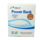 WLD 10400mAh Li-ion Mobile Power Source Banque pour le téléphone iPhone / iPad / portable / MP3 - Blanc