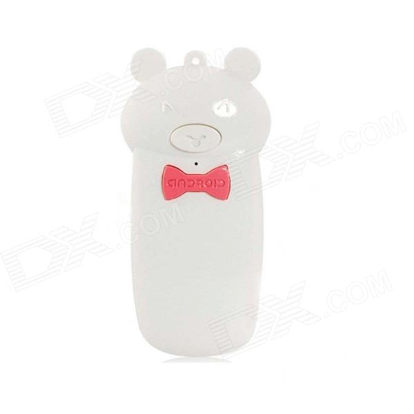 Creative Lovely Pig Shape Wireless Bluetooth Shutter Controller for IPHONE 5 + More - White